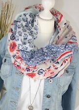 Schal XL TUCH PAISLEY BLUMEN Motiv Fashion Schal ROT NAVY Pastell SCARF NEU H/M-