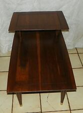 Solid Walnut Mid Century Step End Table / Side Table by Bissman  (T337)