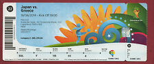 Orig.Ticket    WM BRASILIEN 2014   JAPAN - GRIECHENLAND // Spiel 22  !!  SELTEN