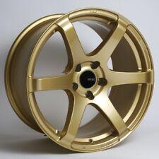 17x8 Enkei T6S 5x100 +45 Gold Rims Fits Impreza Wrx Martix