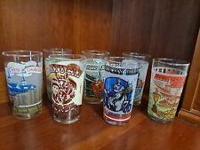 Lot of 7 Kentucky Derby Souvenir Mint Julep Glasses 1976-1980, 1990 & 1992