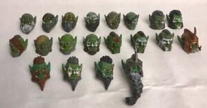 Custom Modded Painted Orc heads hand-sculpted Fits Mythic Legion neck-post