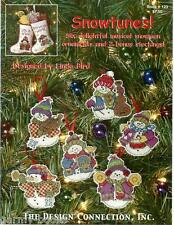 Showtunes Snowman Ornaments & Stockings Connection Cross Stitch Pattern NEW
