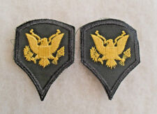 """1950'S TO 1961 ERA US ARMY 2"""" 1/8  WIDE SPEC 4  PAIR EMB ON TWILL COLOR CUT EDGE"""