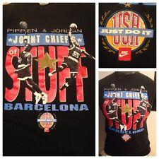 1992 Nike Barcelona Olympics Dream Team PIPPEN JORDAN CHICAGO BULLS SHIRT MENS S