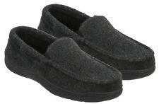 Dearfoams Men's Memory foam Slippers Indoor/Outdoor Black Large 11-12