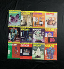 Vintage Jewelry Gems And Minerals Magazine lot of 12 Full Year 1973