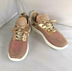 Rose Gold Tennis Shoes Size 10 Free Choice Metallic Sneakers New Unworn Trainers