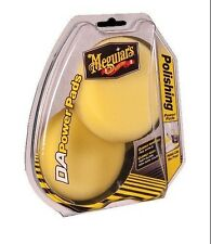 "Meguiars 4"" Powerpad DA Power System Yellow Polishing Pad, Pair, No Swirls"