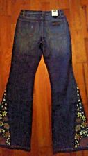 WRANGLER Womens Ladies Flare Jeans 1/2 x 34 $66 NEW NWT GORGEOUS EMBROIDERY!!!
