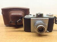 Vintage Kodak Pony 828 Film Camera with Brown Leather Case