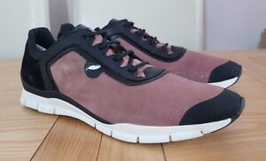 Geox Respira Sukie B Old Rose / Pink / Black Lace Up Low Top Womens Gym Trainers