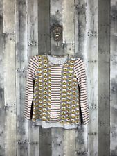 Matilda Jane Floral Striped Long Sleeve Tee Size 12
