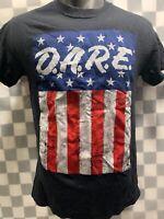 D.A.R.E. To Keep Kids off Drugs Stars Stripes T-Shirt Size S