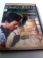 "DVD ""ROMEO Y JULIETA"" RENATO CASTELLANI LAURENCE HARVEY SUSAN SHENTAL FLORA ROBS"