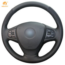 DIY Leather Suede Steering Wheel Cover for BMW F25 X3 2011-17 F15 X5 2014 #0174