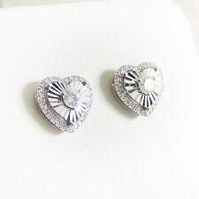 Ohrringe Weißgold 750er Diamanten Herz 18 kt. Goldschmuck exclusiv Edelsteine
