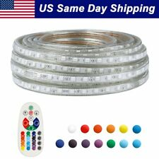 40ft LED Strip Rope Light 13 Color Flexible Lamp Waterproof w/ Remote Home Party