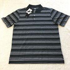 Men's Adidas PureMotion Golf Polo Black White Size Medium New