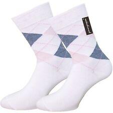 Damen Baumwoll-Socken mit Karomuster 6er Pack - 85% Baumwolle - Venen-Socken