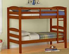 Bunk Bed Twin Over Beds Solid Wood Kids Bedroom Furniture Ladder Loft Bunkbed