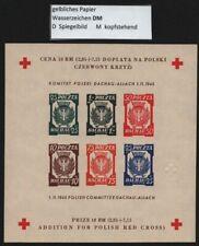 "Polen / Dachau 1945 - Block Nr. II f (*) - ungezähnt - Wz. ""DM"" - RR"
