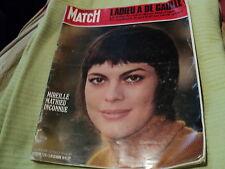 "RARE! REVUE ""PARIS MATCH N°1126 - 1970"" Mireille MATHIEU, Charles DE GAULLE"