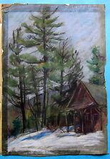 LIONEL FIELDING-DOWNES Mountain Chalet Winter Quebec