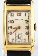 Hamilton vintage 10k Gold Filled UOMO mano-avvolgimento Orologio con /