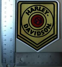 Harley-Davidson Gold Badge Logo Outside Window Sticker. Vintage Harley Sticker.