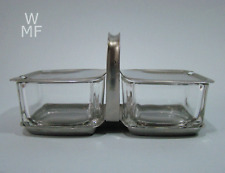 WMF Kubus Menage Cromargan & Glas •Wilhelm Wagenfeld Era• Design 60er modernist