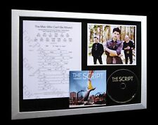 THE SCRIPT Man Who Can't Be Moved LTD CD FRAMED DISPLAY