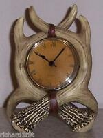 Clock Stag Antlers table shelf mantel desk NEW