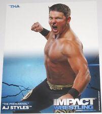 TNA AJ STYLES P-1 IMPACT WRESTLING 8X10 PROMO PHOTO