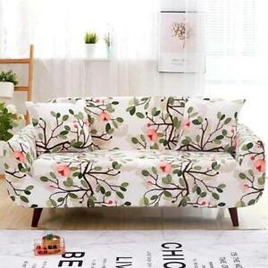 White Cherry Blossom Floral Print Sofa Cover Cover Slipcover