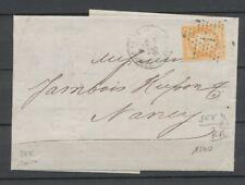 1874 Lettre N°38 40c orange obl étoile 1 avec SEE 2 Fils au dos du timbre P4015