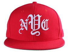 40oz Forty Ounce NYC Big Apple New York Old English Red Snapback Baseball Hat