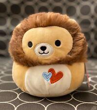"NWT Squishmallows 5"" Lion Francis Valentines 2020 Exclusive Kellytoy Plush"