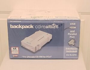 MicroSolutions 192100 Backpack Cd-Rewriter USB Factory Sealed
