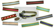 "Trish Hampton Designer Dog Collar Medium 11"" to 16"" USA Handmade CHOOSE ONE"