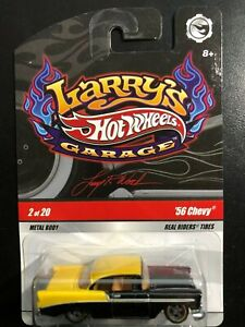 Hot Wheels Larrys Garage '56 Chevy  Metal and Real Rider's