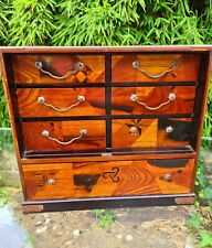 More details for  japanese table top jewellery maquetry cabinet