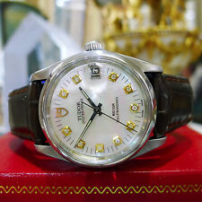 Mens TUDOR 1988 Stainless Steel Gold Diamond 34mm Ref: 74000N Watch