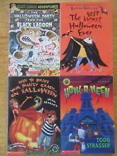 Lot of 4 Halloween Chapter Books Grades 3-5 Black Lagoon / Howl-a-ween