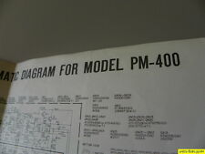 Marantz Model PM 400  Factory Original Schematic Diagram
