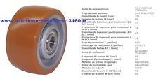LINDE FENWICK 0009933803 ROUE GALET STABILISATRICE 125 60 62 20 mm TRANSPALETTE