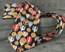 Corbata Seda medalla militar estadounidense James Meade Fuerzas Armadas de EE. UU. fuerza Aérea del Ejército Azul Marino