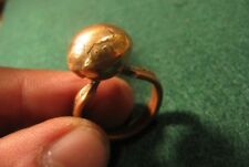 HANDCRAFTED COPPER INDIAN HEAD CENT COIN RING SIZE 9 STAMPED