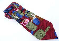 Pink Panther Tie Dumpster Diving with Inspector Clouseau Cartoon Necktie