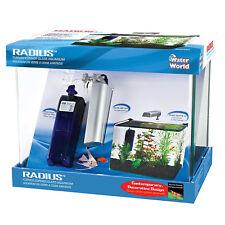 Penn Plax 5 Gallon Radius Curved Corner Glass Aquarium Kit